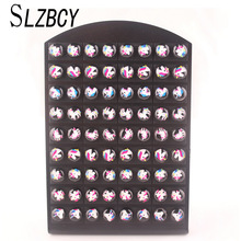 SLZBCY Cute Unicorn Animal Stud Earrings Woman Girls Acrylic Sweet Children Smal