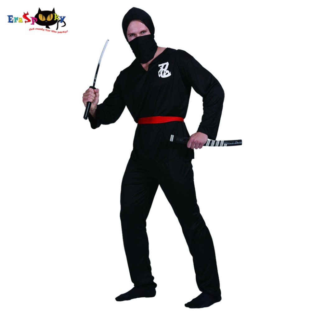 Carnival Men Ninja Fighter Japanese Killer Halloween Costume Adult Anime Cosplay Fancy Clothes Black Outfits Christmas Costumes