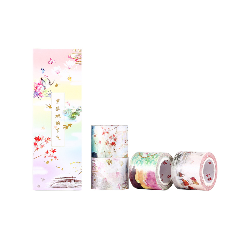 Washi Tape 4 Rolls The Solar Terms of Forbidden City Series Decoration Masking Tape for DIY Gift Card Scrapbook Planner Album 4pcs lot the renaissance of literature and art series diary album diy ornament decorative paper tape masking tape washi tape