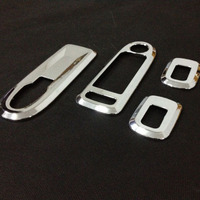 ABS Chrome Car stickers window lift control panel decoration for 2014 Peugeot 301 high quality Accessories 4pcs/set