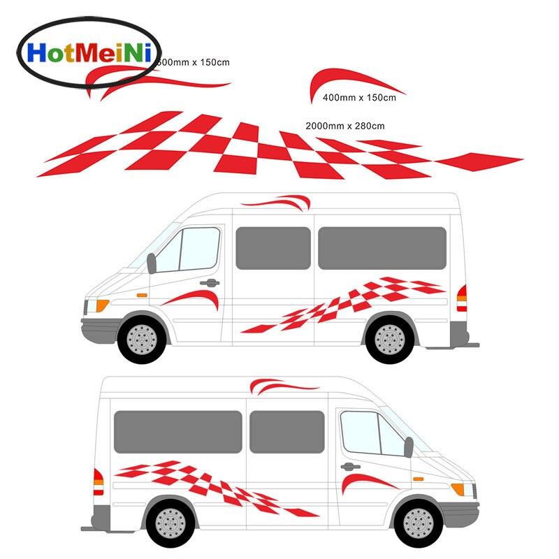 HotMeiNi 2 M 2x modèle dynamique croatie aigle Totem camping-Car vinyle décalcomanies ensemble Van caravane boîte de cheval remorque voiture côté voiture autocollant