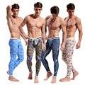 WJ ropa interior térmica hombres del estilo Chino clásico calzoncillos pantalones Calientes calzoncillos Largos 4 Colores Tamaño Sml XL