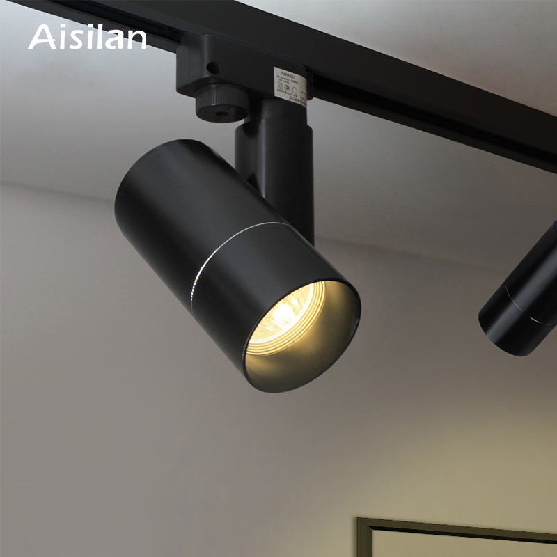 100% True Aisilan Modern Led Track Spotlights Cob Ceiling Lamps 360+180 Angle Adjustable Ac85-260v 5/7w Lighting Fixtures Living Room Shop Lights & Lighting Ceiling Lights & Fans