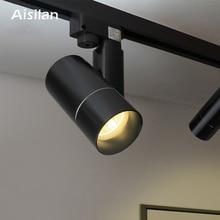 Aisilan LED moderne piste projecteurs COB plafonniers 360 + 180 Angle réglable AC85-260V 5/7 W luminaires salon magasin