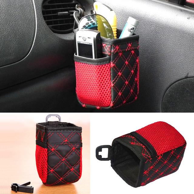Bolsa de almacenamiento para coche teléfono móvil Autos organizador Interior Vehcile dentro bolsas colgantes coches decoración soporte accesorio 6,5*7*12 cm