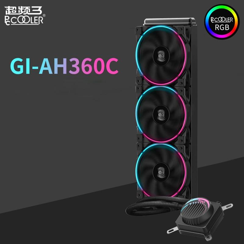 Pccooler GI-AH360C CPU Liquid cooler water cooling 12cm RGB quiet fan for AMD AM4 AM3 intel LGA 2011 2066 1155 1156 CPU radiator