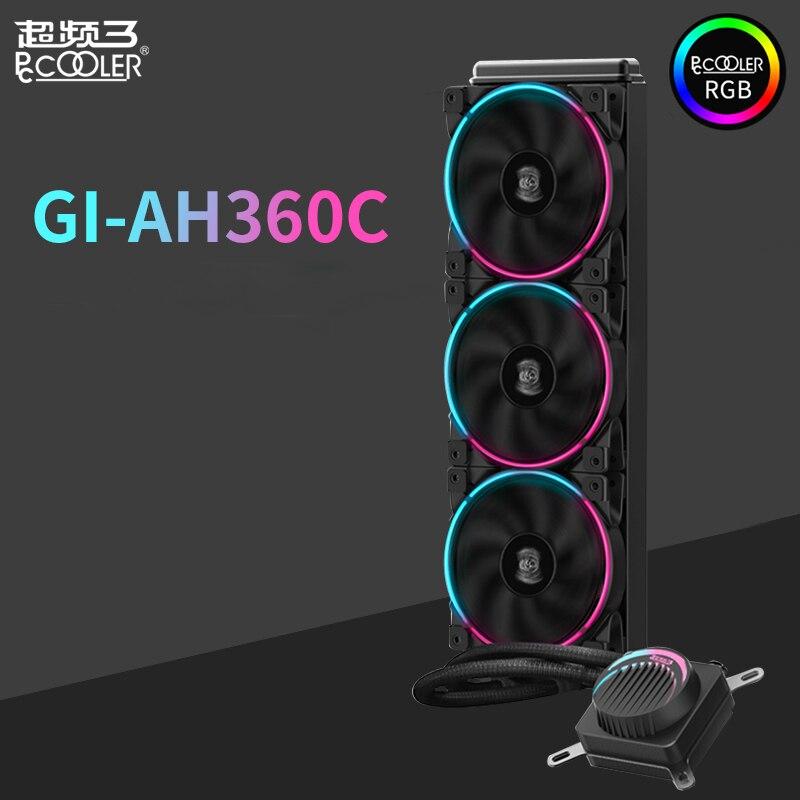 Pccooler GI-AH360C CPU refroidisseur liquide refroidissement par eau 12 cm RGB ventilateur silencieux pour AMD AM4 AM3 intel LGA 2011 2066 1155 1156 CPU radiateur