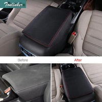 Tonlinker Cover Stickers For Honda CRV 2017 18 Car Styling 1 PCS PU Leather Central Armrest