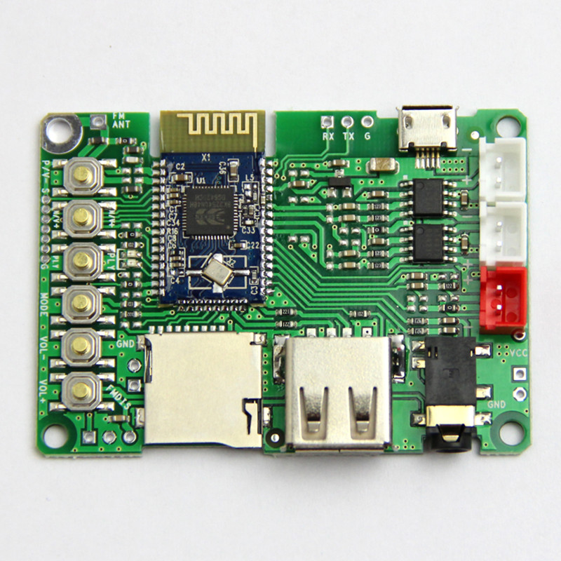Dual 3W <font><b>Bluetooth</b></font> <font><b>Amplifier</b></font> Board V4.1 Stereo BK3254 <font><b>Bluetooth</b></font> Module FM Radio/TF Card/U Disk/USB to TTL image