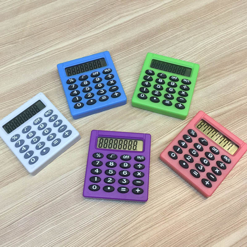 2019 New Student Mini Electronic Calculator Candy 5 Colors Calculating Office Supplies Gift