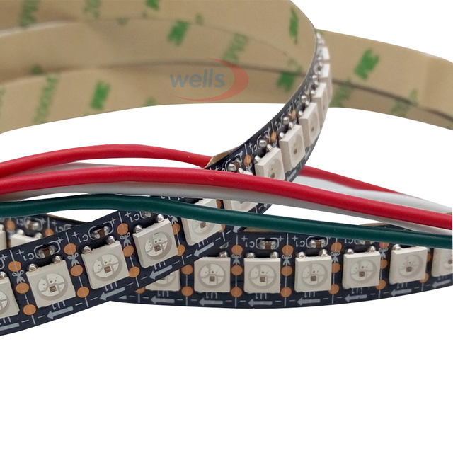 0.5m 72leds 144 LEDs/M WS2812B Chip White/Black PCB WS2811 IC Digital 5050 RGB LED Strip Light 5V NP