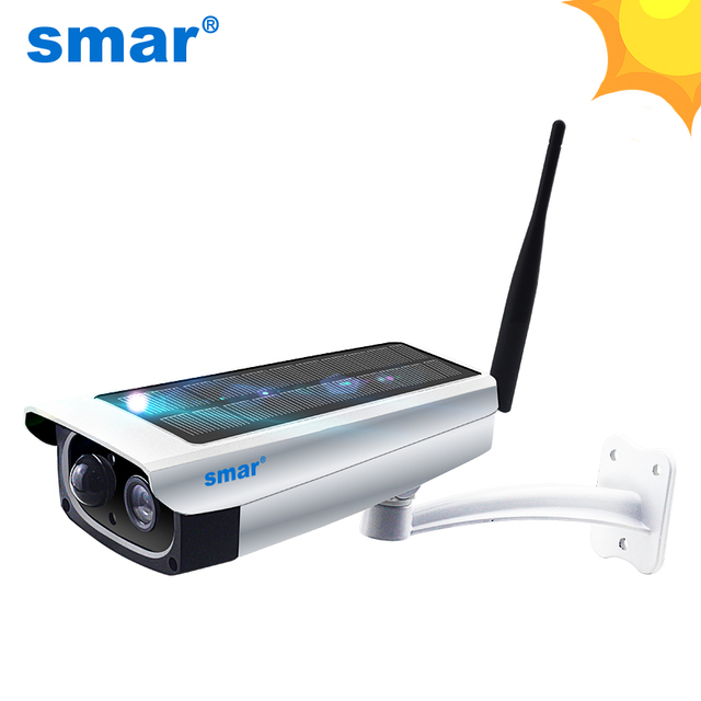 Smar Outdoor Waterproof  Security Solar Camera 1080P Wifi Wireless IP Camera Mobile Phone Remote Control Built-in 7650mA Battery