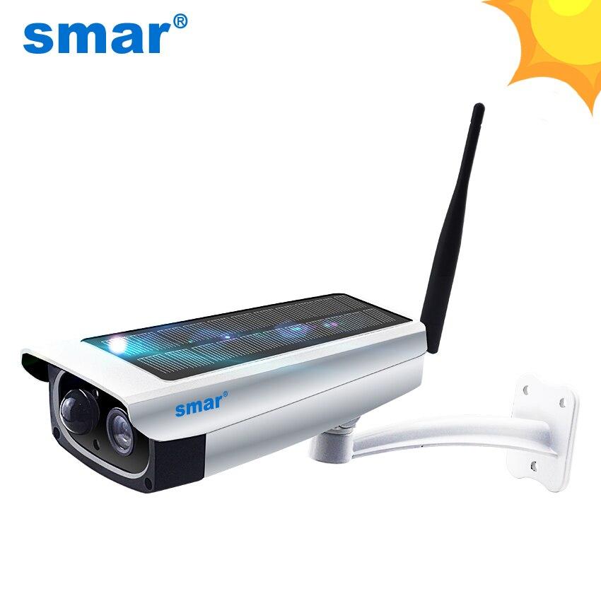 Smar caméra solaire de sécurité étanche extérieure 1080 P Wifi caméra IP sans fil téléphone portable télécommande intégrée 7650mA batterie