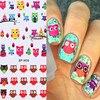 BORN PRETTY Cartoon Owl Nail Art Sticker Colorful Water Decals Nail Transfer Stickers DIY Nail Nail Decorations BP-W09