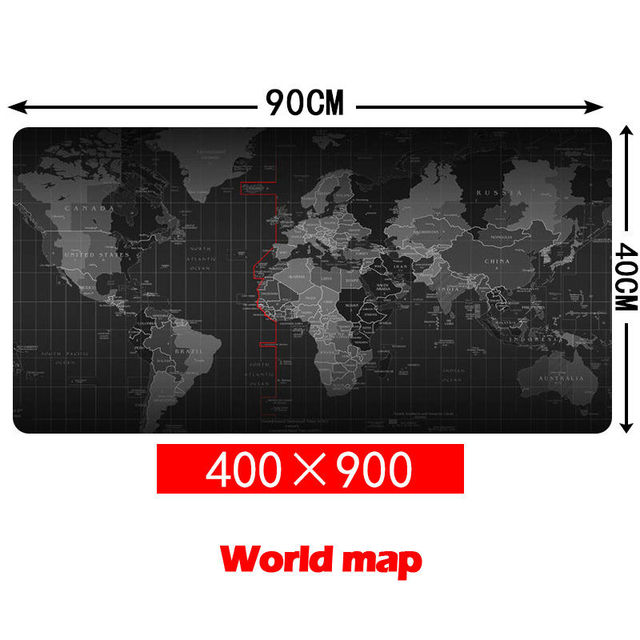 Grande Tamanho 900*400 MM Velocidade de Mapa Do Mundo Laptop Gaming Jogo Mouse Pad Mat Mousepad Computer Desk Mouse Pad para Gamer