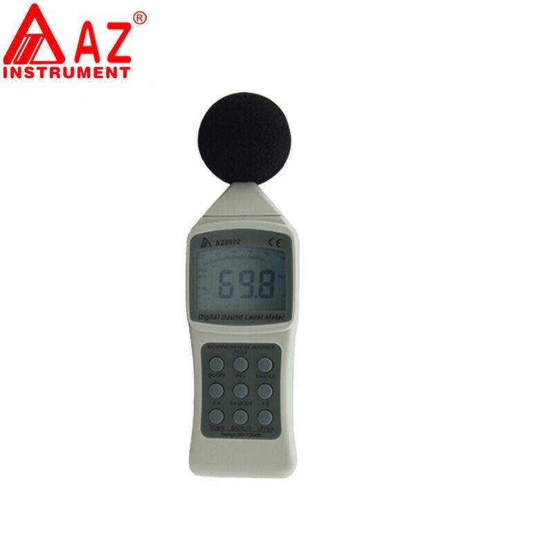 AZ8922 Digital Sound Level Meter noise meter portable sound decibel meter noise tester sound size tester bar decibel meter noise tester electronic noise meter sound level meter decibel tester for bar 123x75x27mm