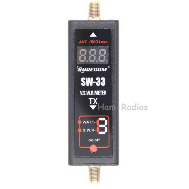 SURECOM SW-33 Mini Power & SWR Meter VHF/UHF 100 mhz ~ 520 mhz Draagbare Tester voor Ham Twee manier Radio SW33 Antenne Mini Tester Teller