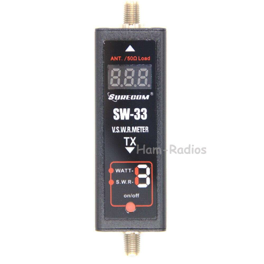 SW-33 SURECOM Mini compteur de puissance et SWR VHF/UHF 100MHz ~ 520MHz testeur Portable pour Radio bidirectionnelle jambon antenne SW33 Mini testeur compteur