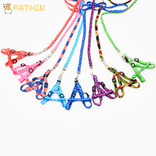 FATHIN Hot Sale Pet Dog Leash Traction Rope Harness Collar for Small Medium Dogs 10 color