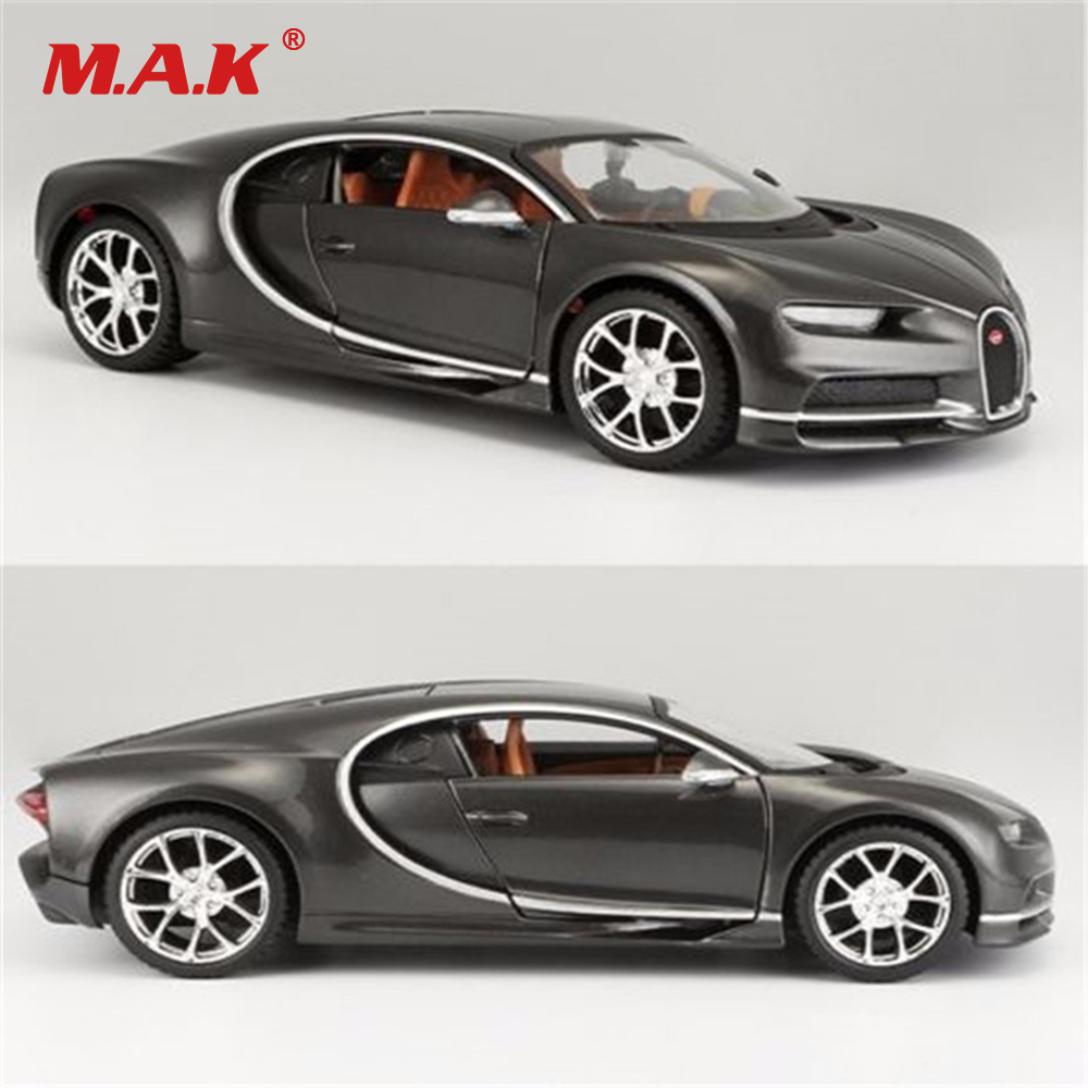 Toys for Boys Grils 1:24 Scale Bugatti Veyron Diecast Model Roadster Pull Back Car Vehicle With Box Kids Toys Gift Collection new arrival bugatti veyron 1 18 big metal model collection car alloy race car iron gift huge fans decoration vehicle toy present