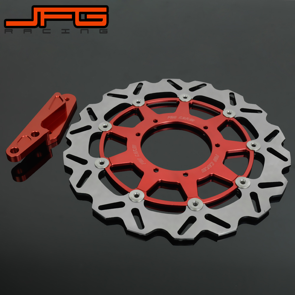 320MM Floating brake disc with bracket For CRF250X CRF250R CR250R  CRF450R CRF450X CR125 Motorcycle Pit Bike keoghs real adelin 260mm floating brake disc high quality for yamaha scooter cygnus modify