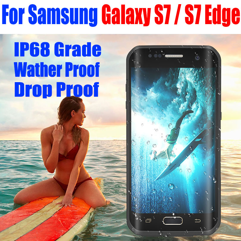 imágenes para Para Samsung Galaxy Borde S7/S7 Caja Original RedPepper Dot serie IP68 Impermeable de Buceo Bajo El Agua caja de la PC + TPU Armor Cubierta S725