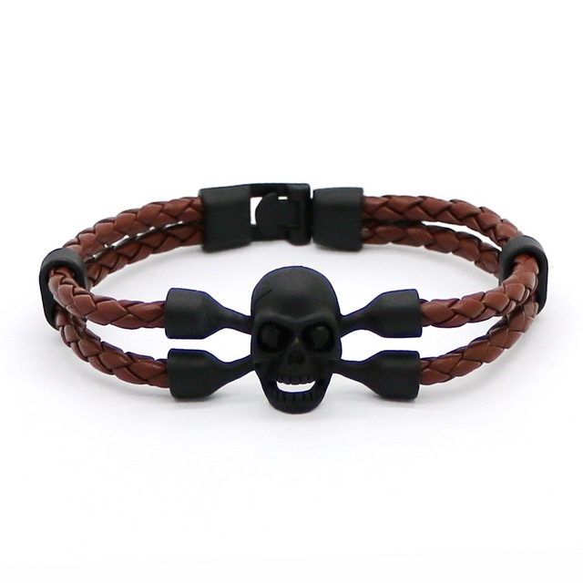 Купить новинка 2016 модный мужской браслет из сплава с черным скелетом