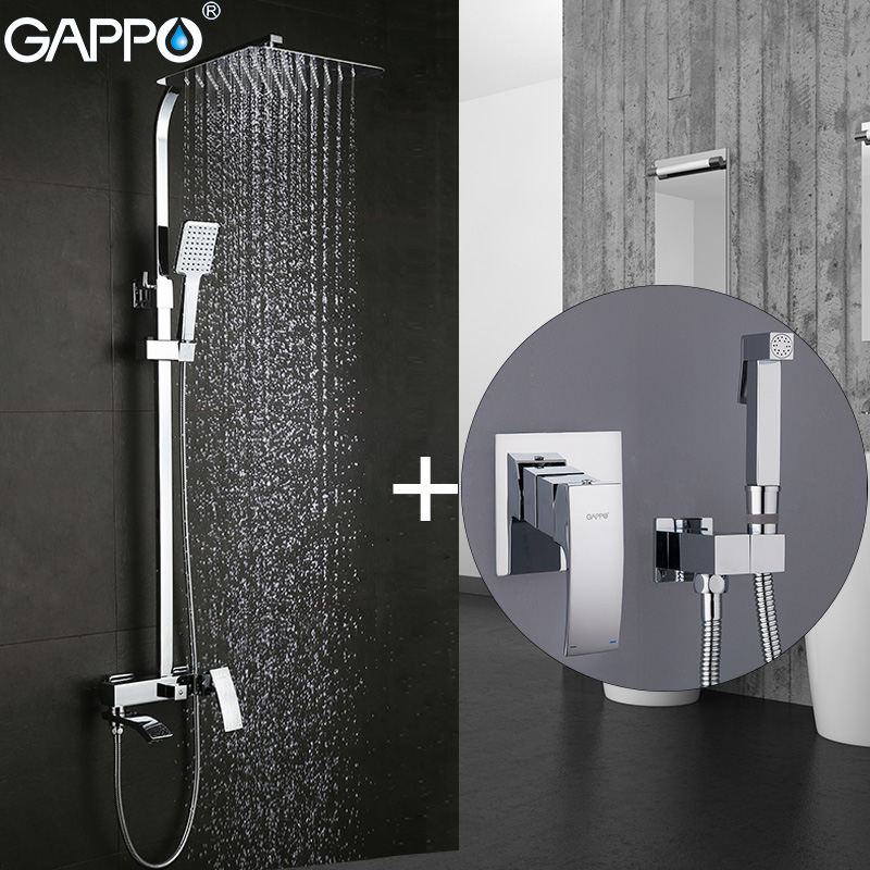 GAPPO Shower Faucets bathroom mixer rainfall shower set bidet faucets muslim shower bidet toilet sprayer