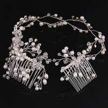 Fashion Jewelry Silver/Gold Plated Charm Hair Comb For Women Bijoux Wedding Accessories Bridal Head Chains RE657