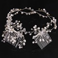 Fashion Jewelry Silver/Gold Plated Charm Hair Comb For Women Bijoux Wedding Hair Accessories Bridal Head Chains Jewelry RE657
