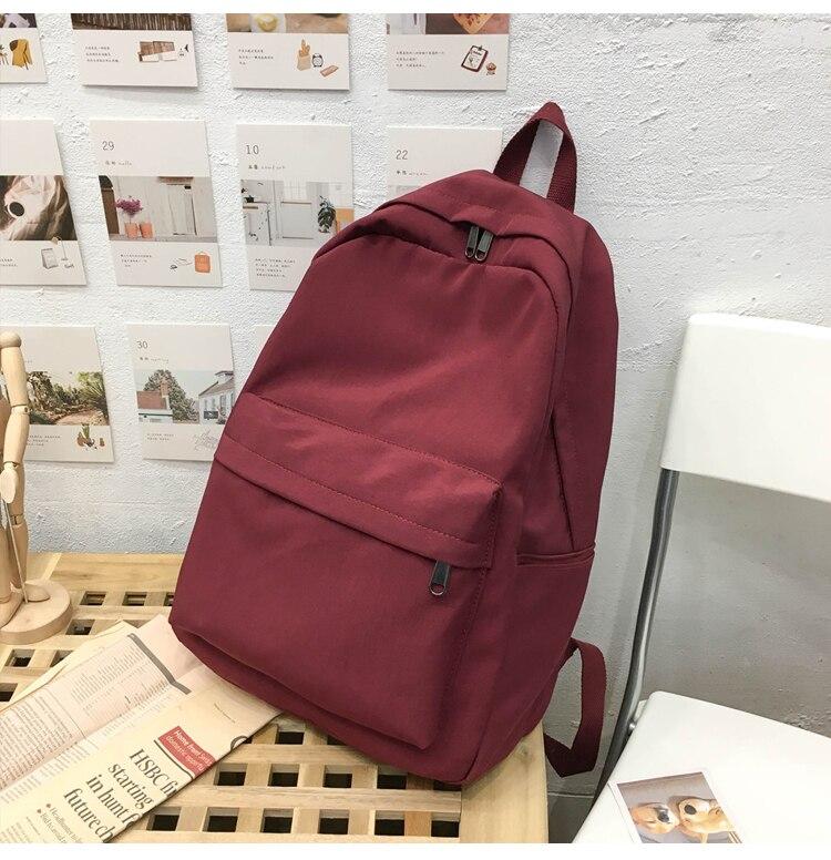 HTB1edrPXAT2gK0jSZPcq6AKkpXaK 2019 Backpack Women Backpack Solid Color Women Shoulder Bag Fashion School Bag For Teenage Girl Children Backpacks Travel Bag