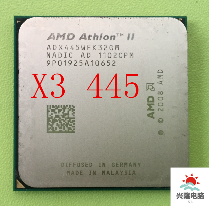 For AMD Athlon X3 445 Processor (3.1GHz 1.5MB L2 Cache  Socket AM3 CPU Processor Scattered Pieces Free Shipping