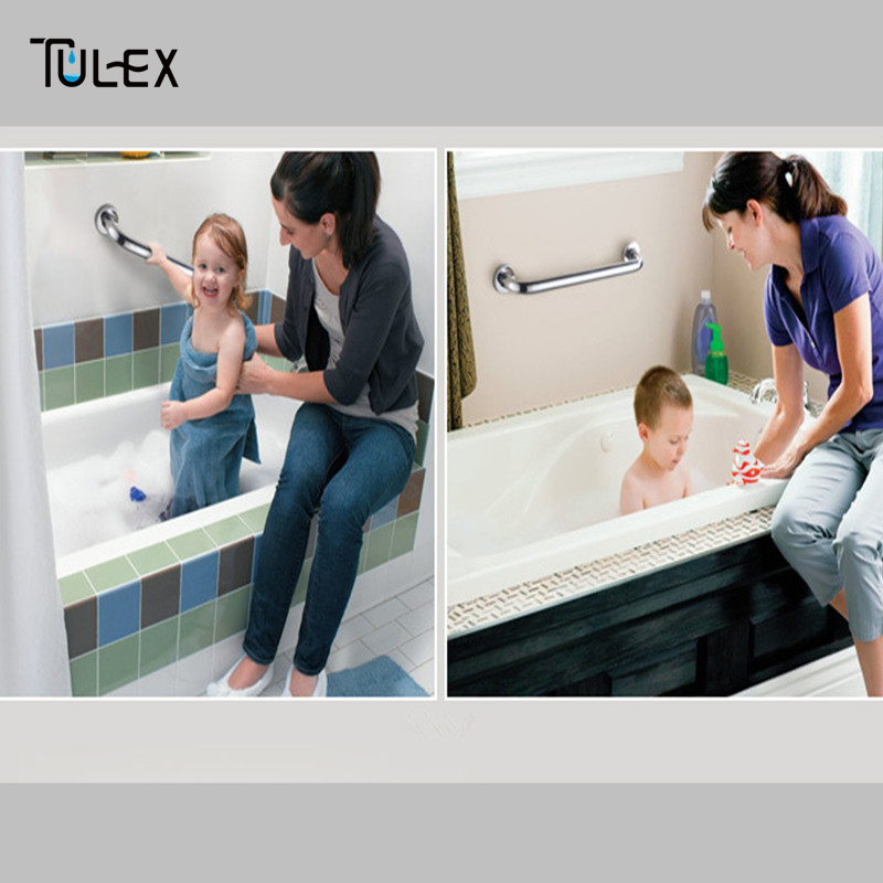 Aliexpress.com : Buy Bathroom Grab Bars For Elderly Bathtub Handrail Safety  Helping Handle 304 Stainless Steel Toilet Chromed From Reliable Grab Bar ...