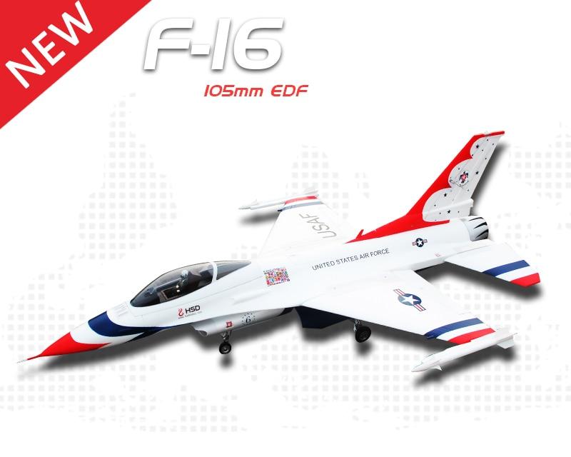 HSD Thunderbird 105MM EDF EPO F16 RC Airplane KIT Model W/O ESC Motor Servo 50mm edf a10 warthog rc airplane model kit w 870mm wing span