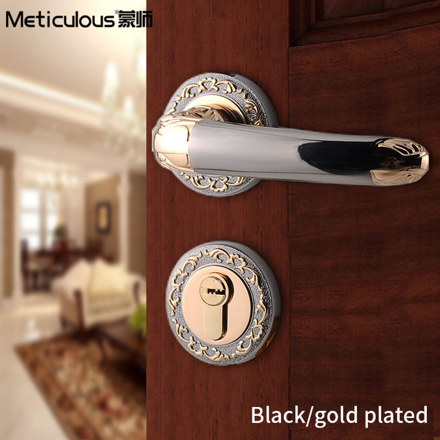 Perfect Meticulou Antique Security Entry Split Silent Lock Core Mortice Door Handles  Lock Indoor Latch Bolt