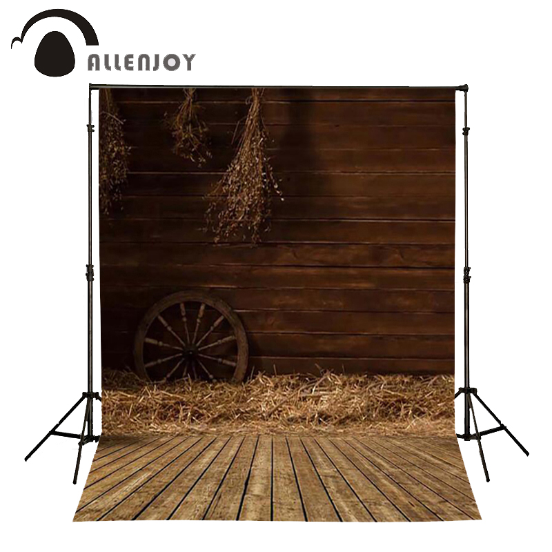 Allenjoy Photography background Wooden warehouse old house baby girl props fabric backdrops allenjoy christmas photography backdrops christmas background gifts white brick wall wooden floor bulbs table for baby for kids