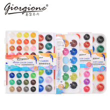 36Colors Powder Solid Watecolor Paint Set With Brush Bright Color Portable Water PigmentFor Students Art Supplies