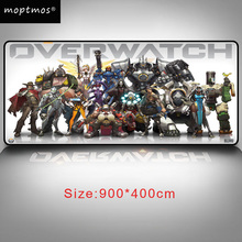 Overwatch Extended Gaming Mouse Pad-Rubber Base With Anti-Fray Cloth Speed Soft Gamer Pad Large Size 35.4x15.7x0.08inch