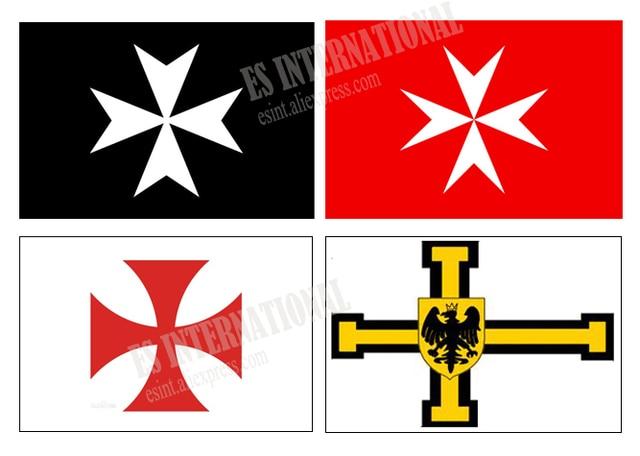 Knights Team Flag 3x5ft 150x90cm Custom Banner Brass Metal Holes