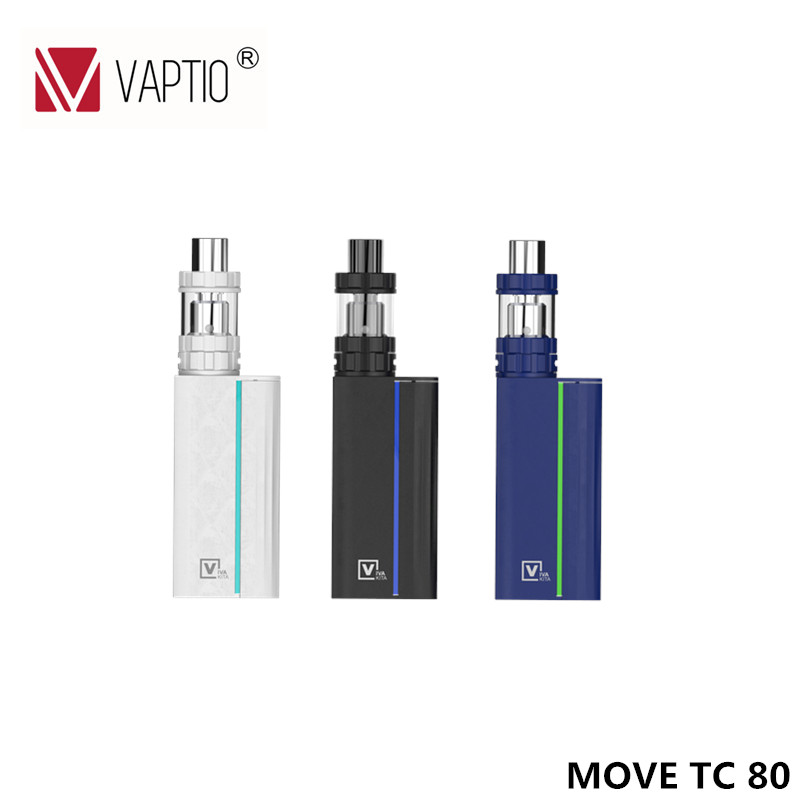 Vape Electronic Cigarette Vivakita Move Grand Kit 80W Vapor 0.96 color screen E Cigarette Box mod 510 thread Vaporizer 2mL Tank