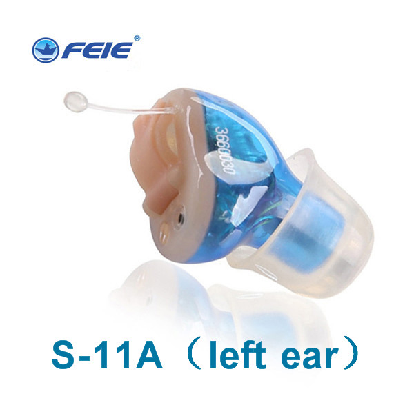 Both Ears Instrument 2 PCS /LOT Mini CIC Digital Sound Voice Amplifier Ear Zoom Ear Aid Deaf Hearing Aid S-11A medical ear aparat cic deaf invisble hearing aid aides ear sound voice amplifier digital programmable s 11a free shipping