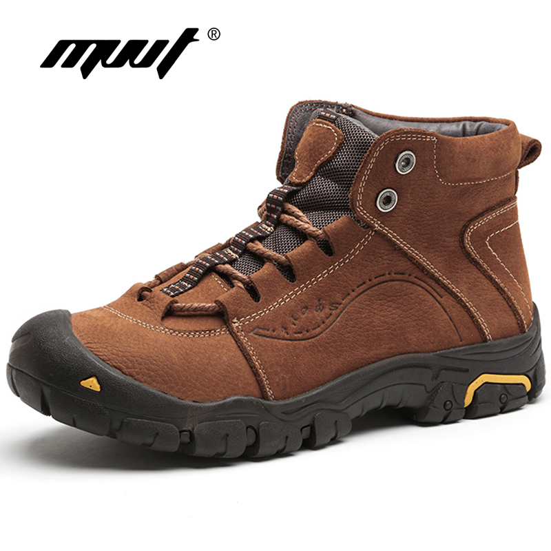 MVVT/очень теплые мужские ботинки, зимние ботинки из натуральной кожи с мехом, уличные зимние ботинки, мужские ботильоны со шнуровкой