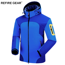 ReFire Gear Soft Shell Fleece Outdoor Camping Jacket Men Warm Windproof Waterproof Sport Climbing Jacket Thermal Hiking Clothing недорго, оригинальная цена