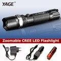Yage 336c cree rotativo lanterna zoomable tocha 18650 lanterna led lanterna lanterna à prova d' água led lanterna lampe torche