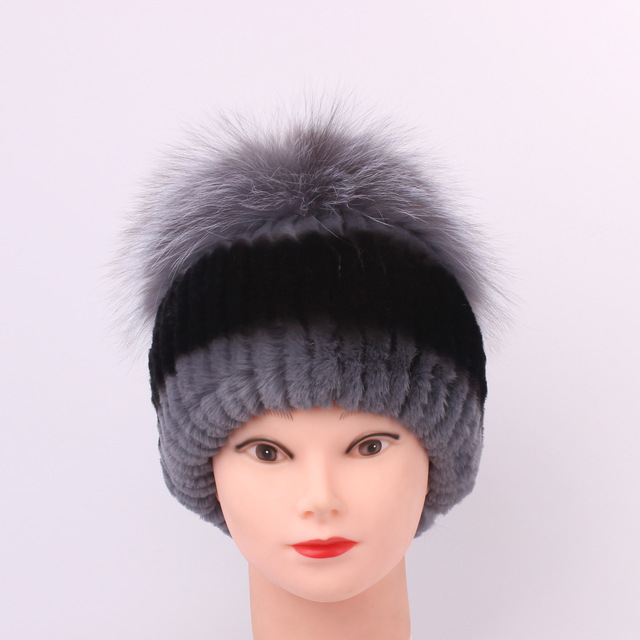 7d75428d9 Rex Rabbit Hair Fur Ma'am girls Hats for women cap Manual Sew High ...