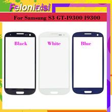 10Pcs/lot For Samsung Galaxy S III S3 GT-I9300 I9300 i747 i9305 Touch Screen Front Glass Panel TouchScreen Outer Glass Lens
