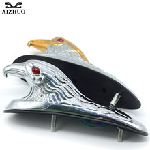 Motorcycle Accessories Chrome Eagle Head Ornament Statue For Motorbike ATV Front Fender frames&fitting Car Bonnet Light 2 color