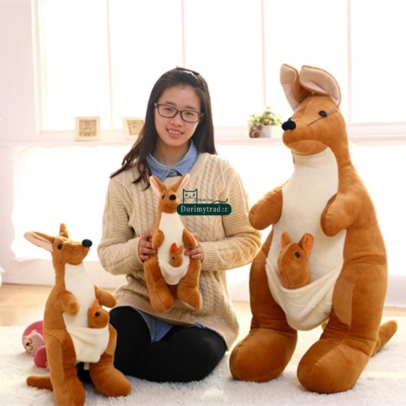 Dorimytrader Hot 47 120cm Lovely Soft Plush Stuffed Giant Animal Australia Kangaroo Toy Nice Gift