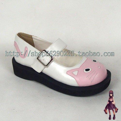 ФОТО Lolita Princess cos Platform shoes women's lolita shoes platform shoes owl shoes 9621 powder white