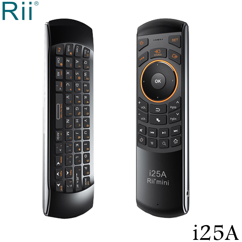 Rii i25A 2.4GHz Mini Wireless Keyboard Fly Mouse with IR Remote Function for Andorid TV Box, Mini PC, Coumpter цена и фото
